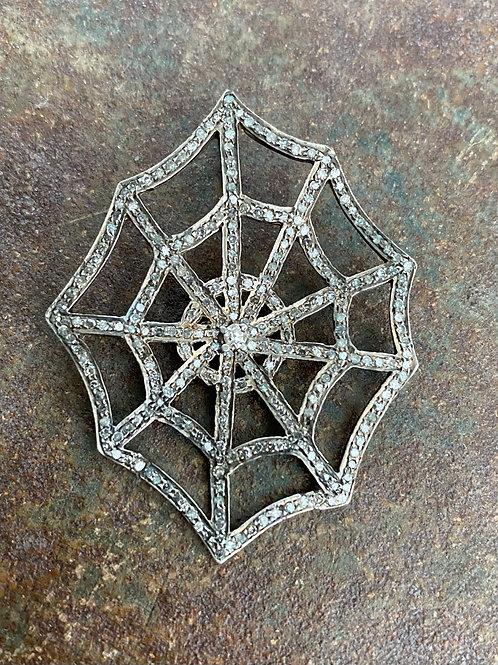 WEB Diamond silver Charm