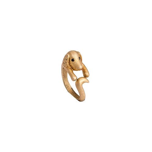 Gold Vermeil & Diamond Dog Ring