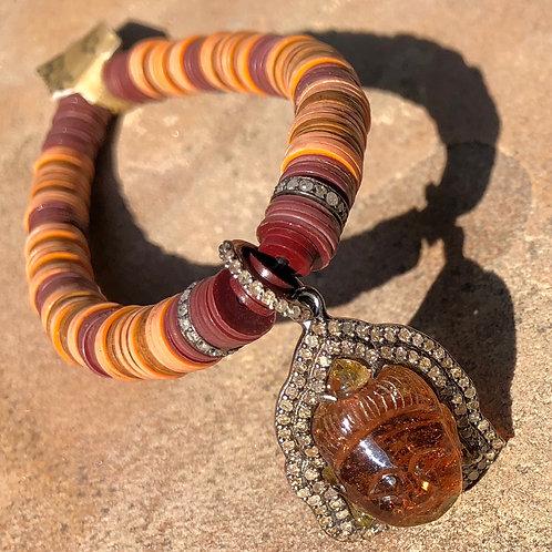 Tourmaline Diamond Vulcatine Bracelet