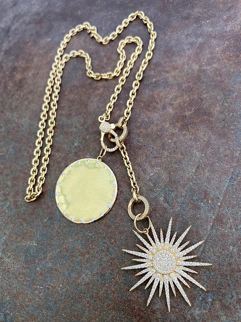 Double charm diamond necklace