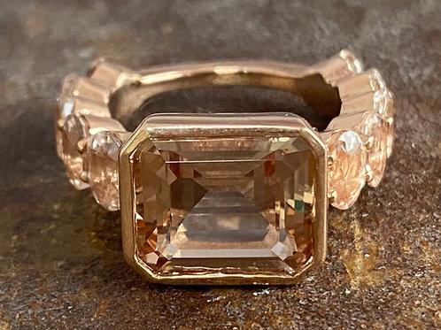 Morganite, rose gold ring