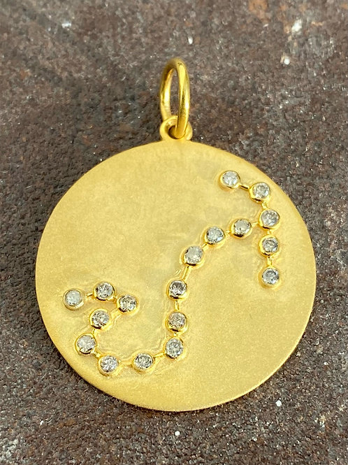 Diamond & Gold  Scorpio Charm