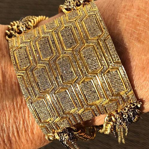 Gold Vermeil & Diamond Cuff
