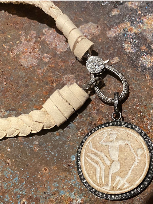 Suede & Diamond with stone seal