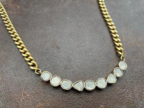 Rosecut Diamond & Gold Vermeil Necklace