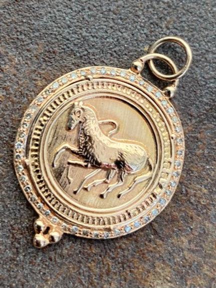 Equestrian Diamond rose gold 14kt Charm
