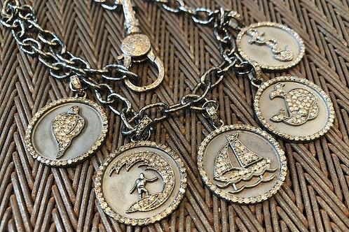 COIN CHARM with diamonds necklace