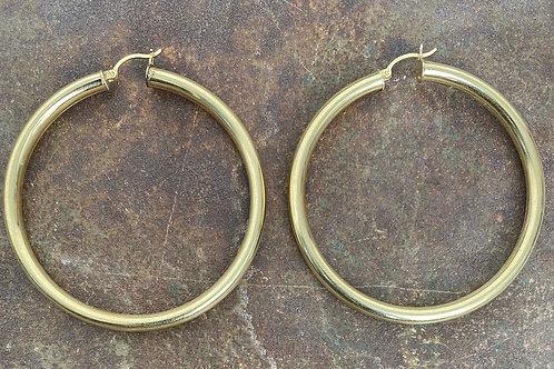 Hoop 14kt gold earrings