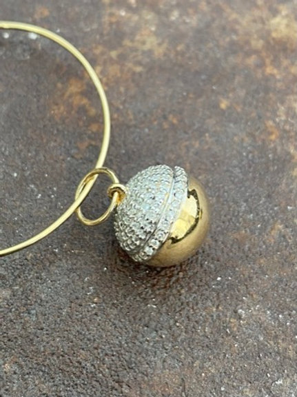 Gold & Diamond Ball 14kt charm