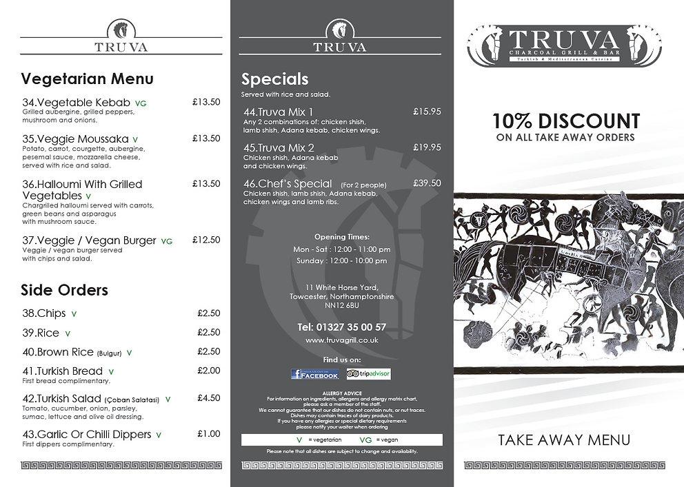 truva takeaway menu Towcester