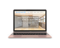 Front view mockup of Rose Gold MacBook (