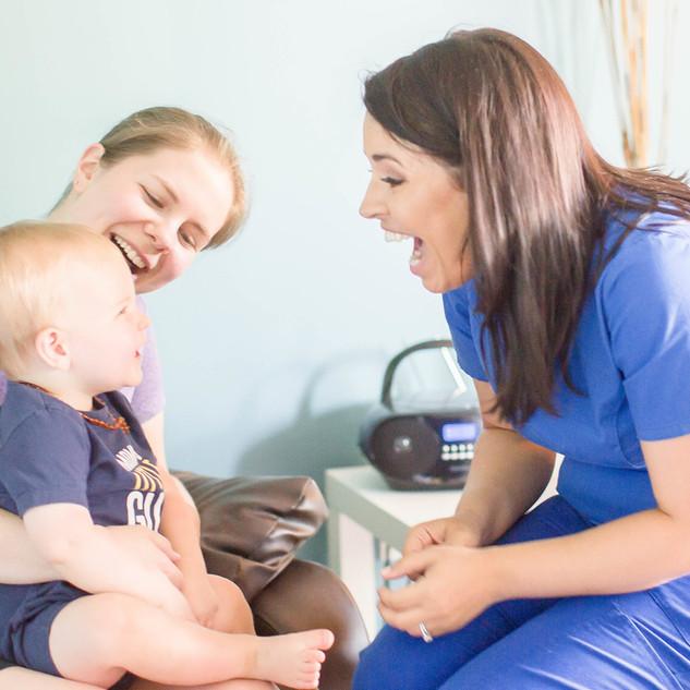 Jacqui with Patients