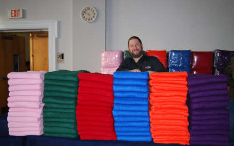 More than 1,000 blankets were donated!