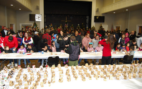 178 families attended the party - that included 420 children and 305 adults!