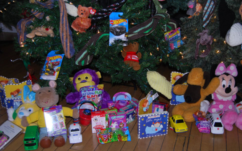 Thank you to everyone who donated toys for on and under the trees...the response to this need was amazing and children loved picking a toy after visiting with Santa and Mrs. Claus!