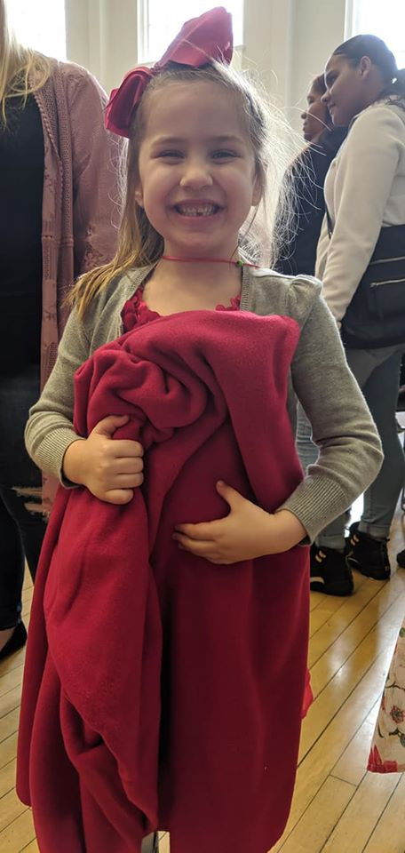 An example of the joy that Blankets of Hope-Berks brings to the community!