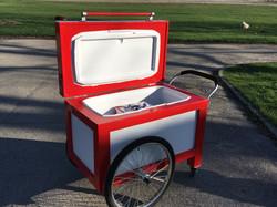 Cooler cart open