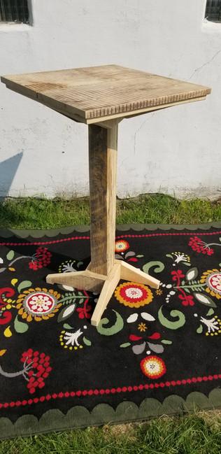 High top pedestal table