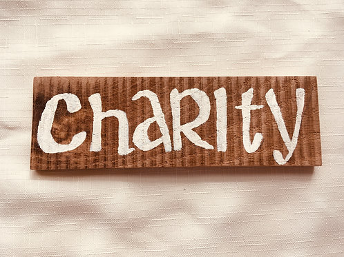 Charity - Little Catholic Sign