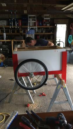 Cooler cart in progress