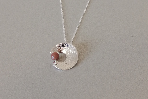 Louise Howitt - Together pendant in silver and jasper