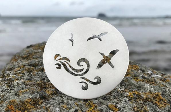 Hannah Louise Lamb handmade silver brooch