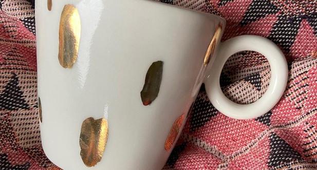 Jade Gallup Studio - Gold mug small