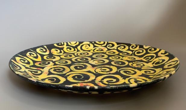 "George Omerod - Yellow Arabesque 15"" Platter"