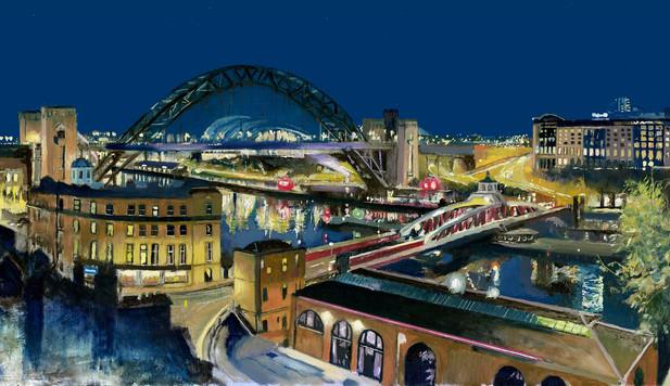 Robert Myers Art - 'Tyne view' Print Limited edition