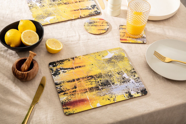 Breakfast Set in 'Nomad Texture' by Ruth Holly