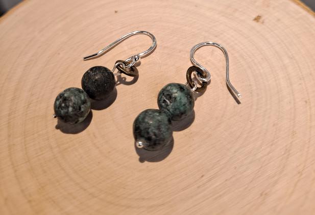Mellisa James Jewellery - African turquoise 2 ball earrings