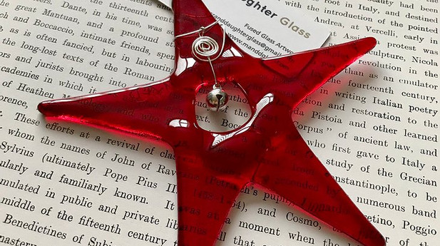 Mother & Daughter Glass - Star with Silver Bell