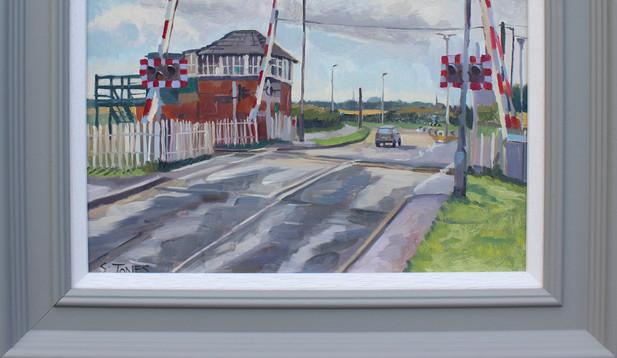 Stuart Jones - 'The Level Crossing at Blyth' framed original painting