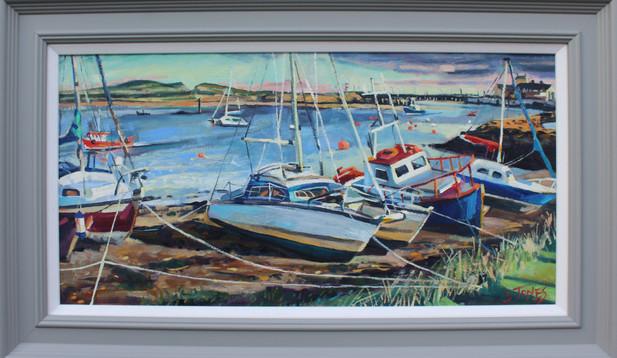 Stuart Jones - 'Amble Marina Shoreline' framed original painting
