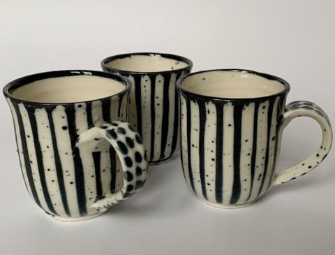 George Omerod - Stripe B&W Mug