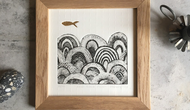 Marian Haf - Framed mini gold fish