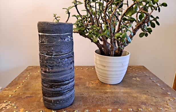 Hilary Durie - 'Strata' Straight Vase