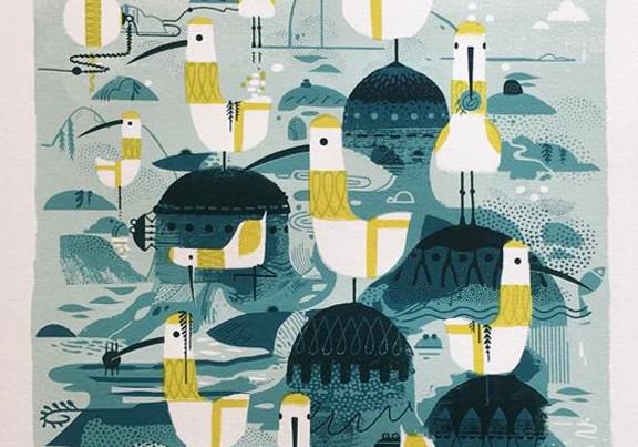 Graham Carter - 'Low Tide (At Hope Gap)' Limited Edition print