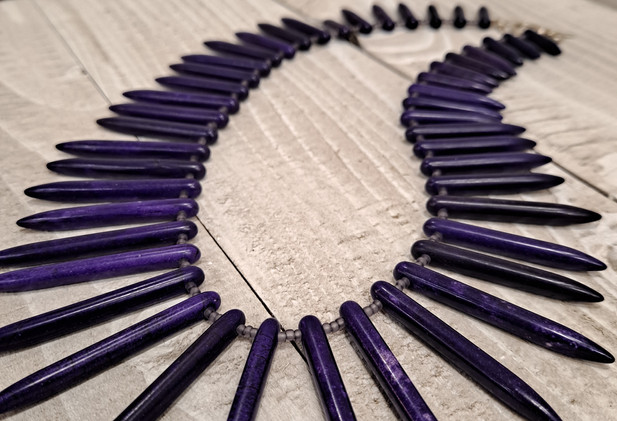 Mellisa James Jewellery - Purple stick dyed turquoise necklace