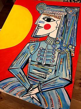 lienzo cuadro obra por encargo de mario de la iglesia blacksunmadspain