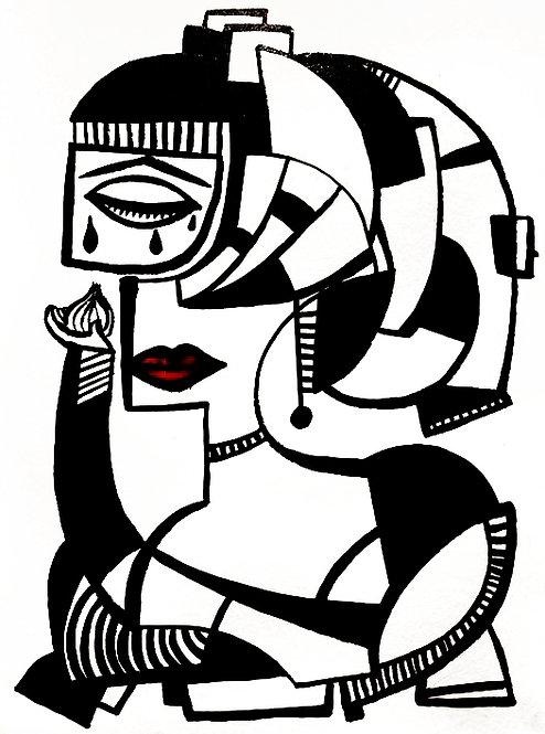 """WOMAN WITH ONION"" (la plañidera)"