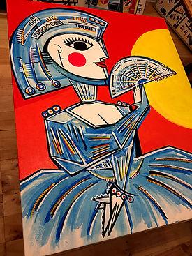 lienzo cuadro por encargo mario de la iglesia blacksunmad spain