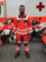 Motorradkombi Deutsche Rotes Kreuz
