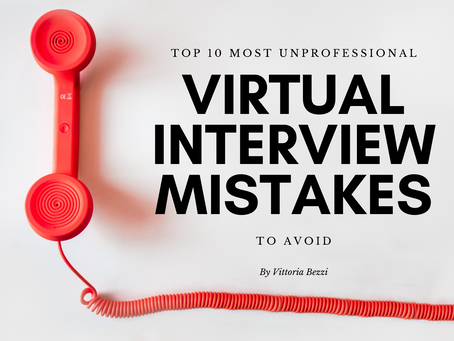 TOP 10 most unprofessional virtual interview mistakes