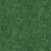 Green Paisley