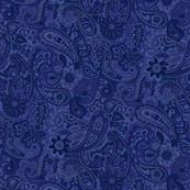 Dark Blue Paisley