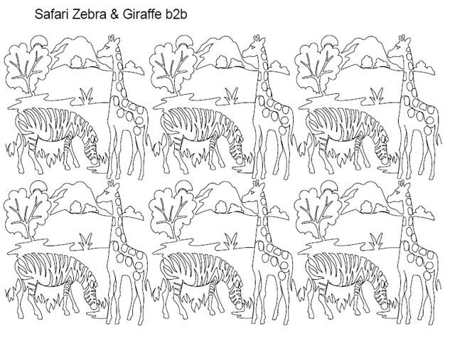 Safari Zebra & Giraffe