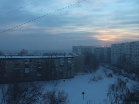 Зимняя зарисовка. Морозное утро. Голуби зимой