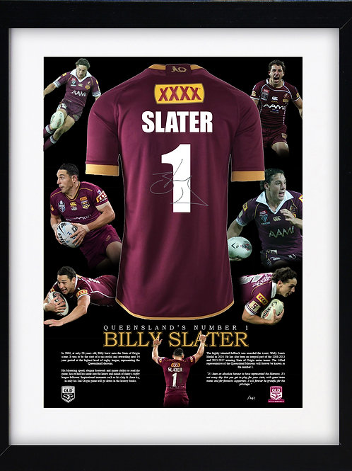 Signed, framed & authenticated - Billy Slater  jersey