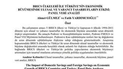 BRICS Ülkeleri ile Türkiye'nin Ekonomik Büyümesinde Ulusal ve Yabancı Tasarrufların Etkisi: Pane